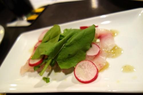 鮮魚のカルパッチョ ホップ風味
