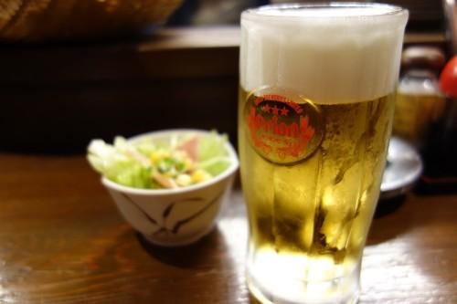 オリオンビールとお通し