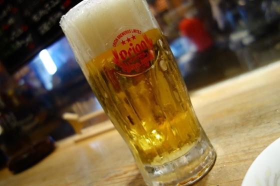 居酒屋野郎 りょう次 ビールはオリオン