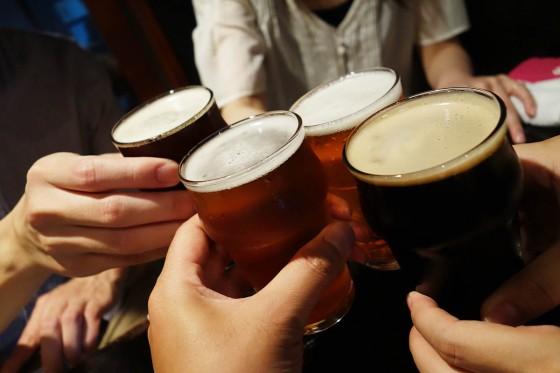 クラフトビールで乾杯