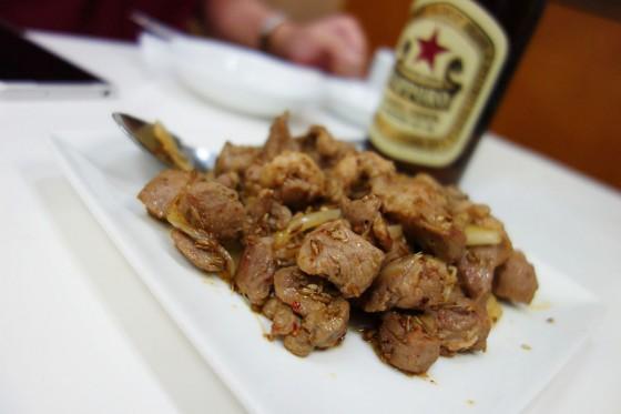 ラム肉のクミン風炒め