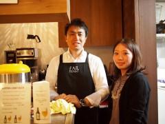 日本クラフトビールの代表、山田司朗さんと。