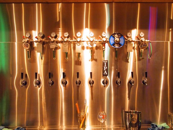 ビールのタップは10個