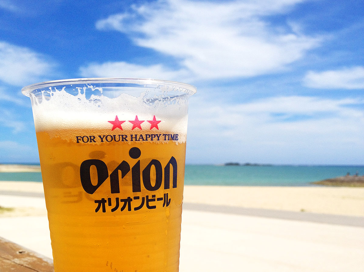 沖縄でビール!