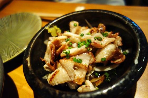 とり皮ポン酢(420円)