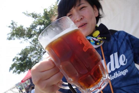 ジョッキでビール