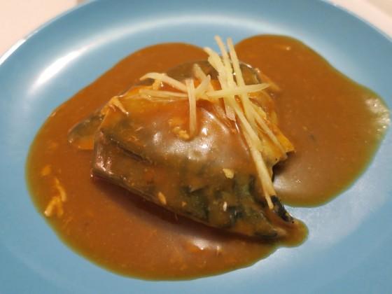 こってり鯖の味噌煮(500円)