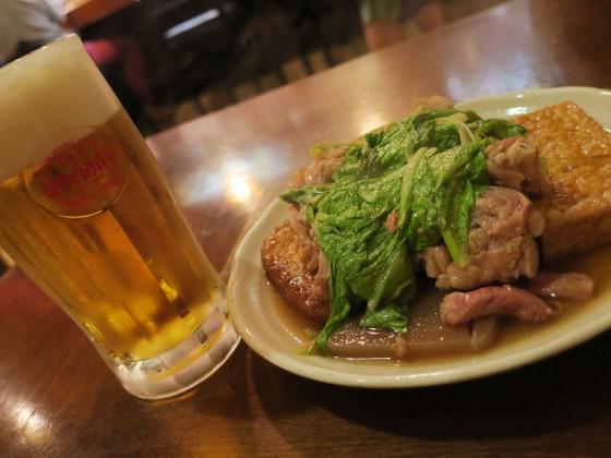 ビールとおでん