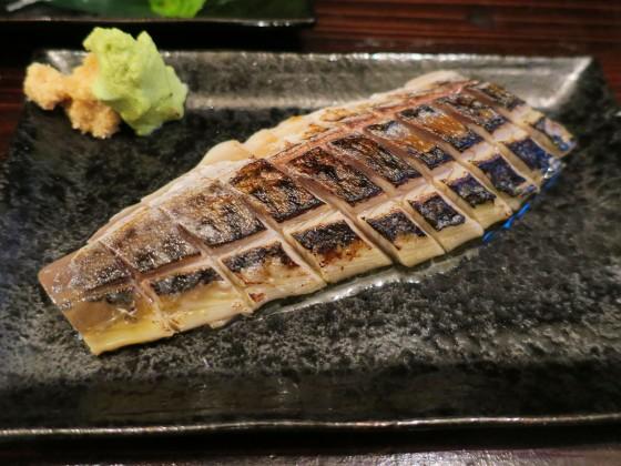 炙りしめ鯖(880円)
