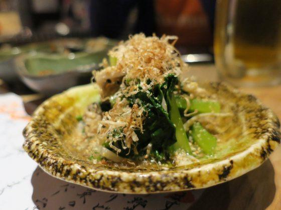 季節野菜のおひたし(480円)