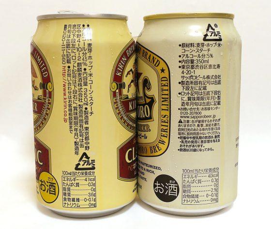 生じゃないビール成分表示