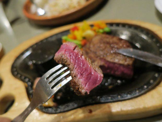 ステーキが美味しい!