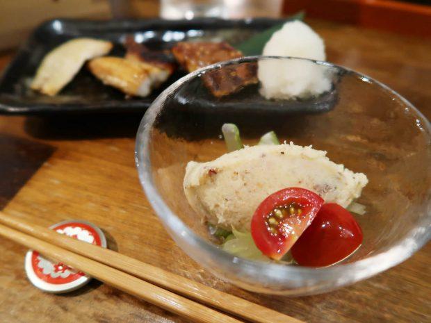 焼き鯖のポテサラ(380円)