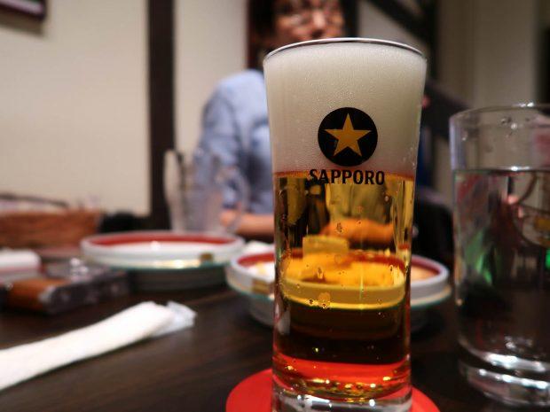 サッポロ生ビール(500円)