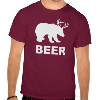 くまのシカビールか。 Tシャツ