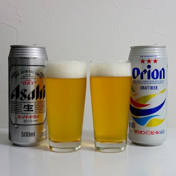 スーパードライ&オリオンビール