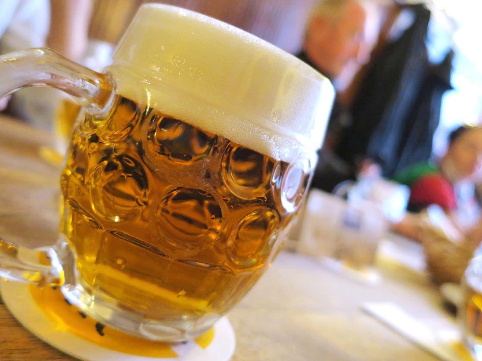 黄金の虎でビール