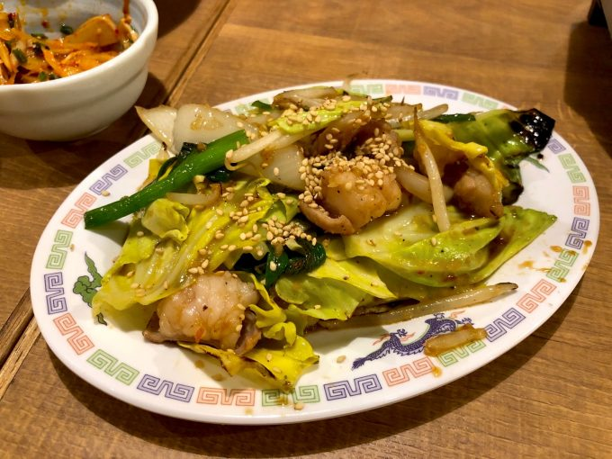 牛ホルモン味噌炒め(630円)