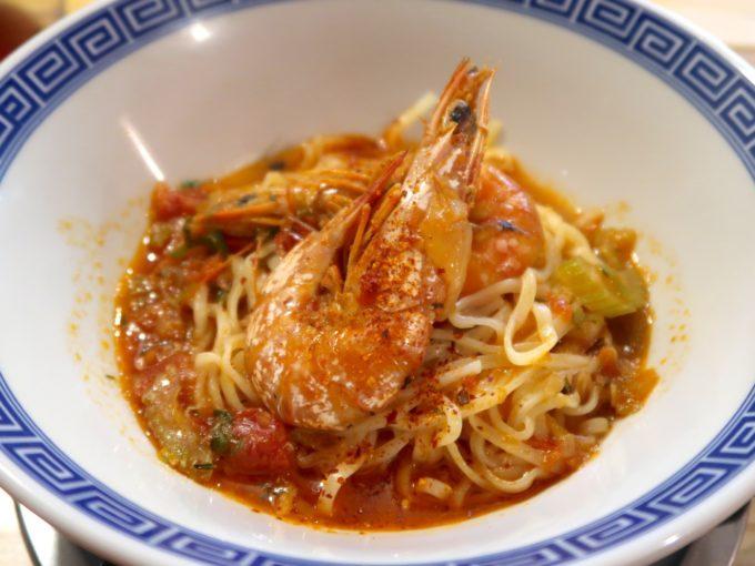 久米島産車海老のビスク麺