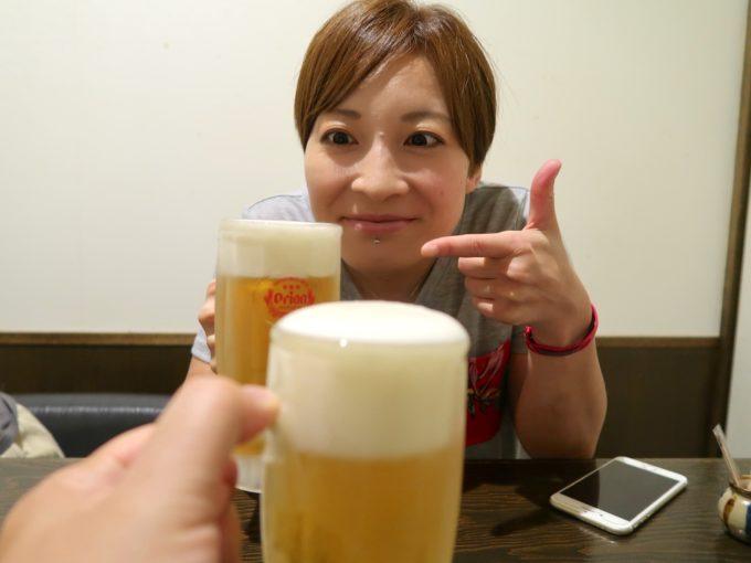 ビールで乾パワーイ!