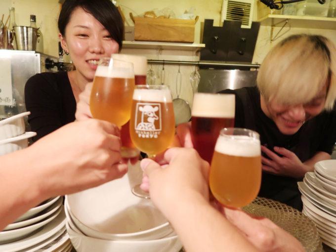 百軒店ビールで乾杯!