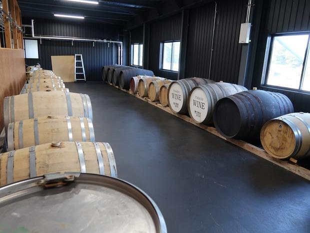 ワイン樽も