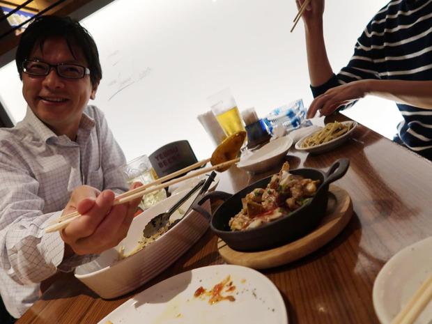 エリンギと鶏セセリのアンチョビバター
