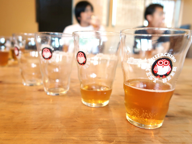 ビールを飲みつつ
