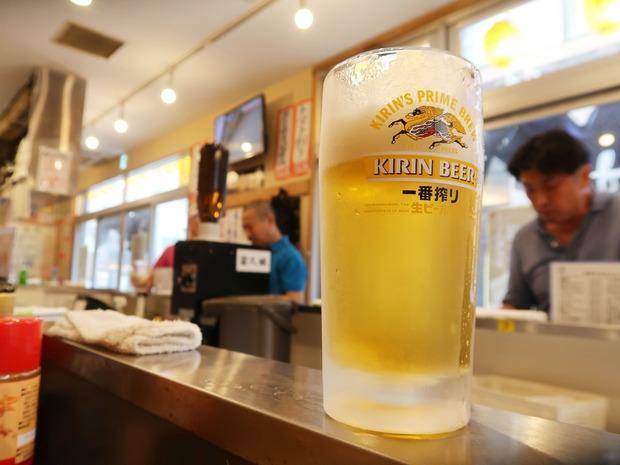 ビールはキリン一番搾り
