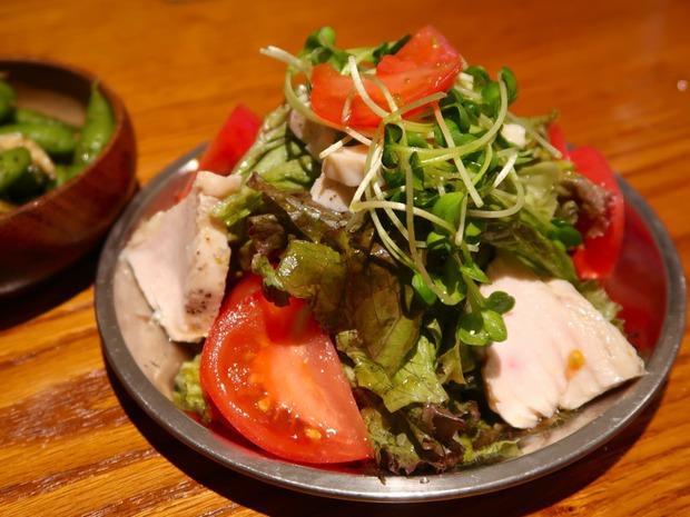 鶏ムネ肉のサラダ(600円)