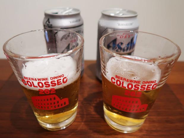 ビールを飲み比べ