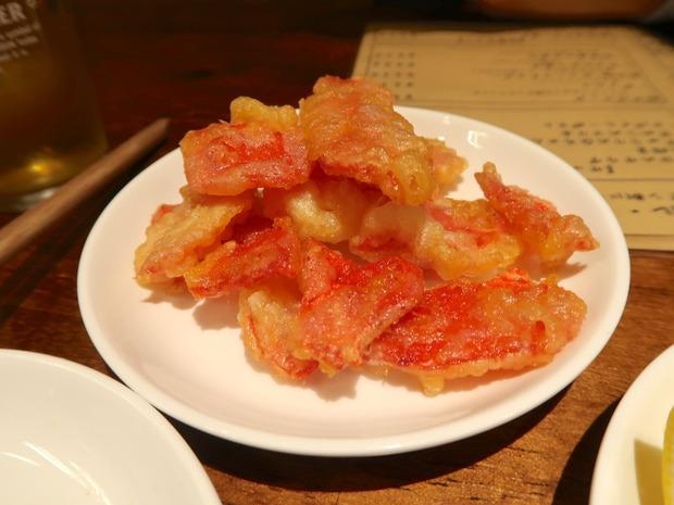 紅しょうがの天ぷら(520円)
